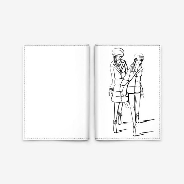 Обложка для паспорта «Девушки модницы»