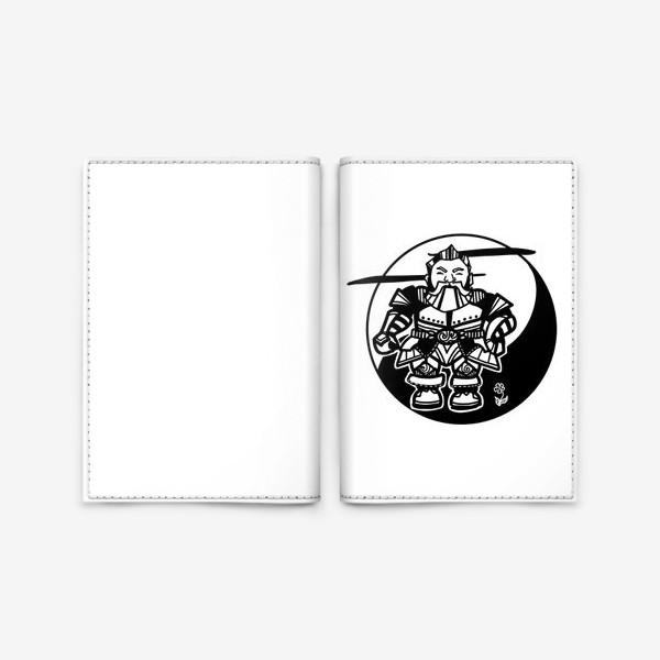 Обложка для паспорта «Гном и цветочек»