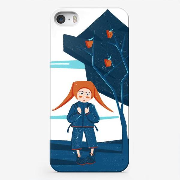 Чехол iPhone «Девочка у дерева»