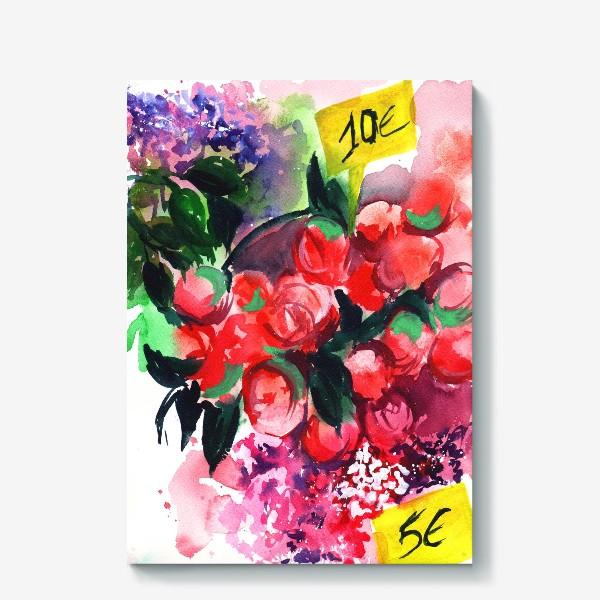 Холст «Цветочный базар»