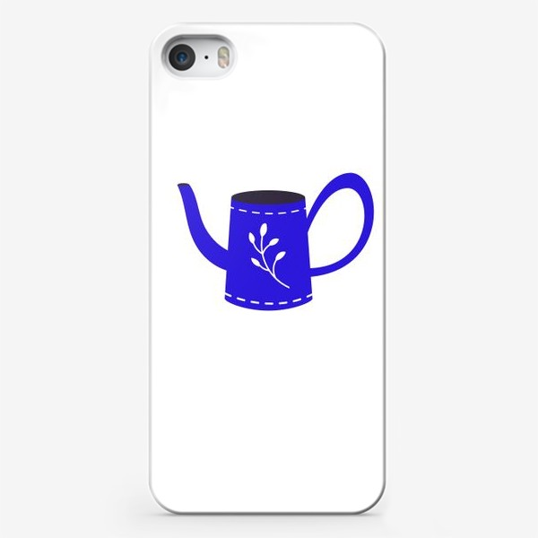 Чехол iPhone «Симпатичная синяя лейка. Садоводство, сад, лето»