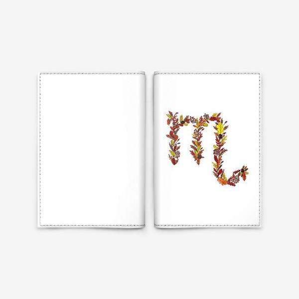 Обложка для паспорта «Скорпион. Цветы»