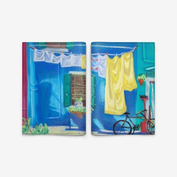 Обложка для паспорта «Картина Венеция. Яркие краски. Путешествие по Италии. Пастель.»