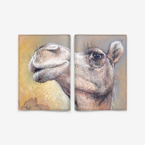 Обложка для паспорта «Верблюд, подарок с юмором»
