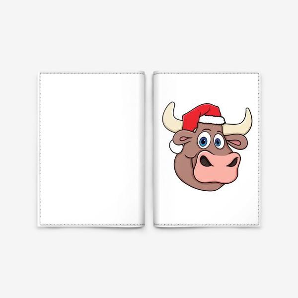 Обложка для паспорта «бык символ нового года 2021»