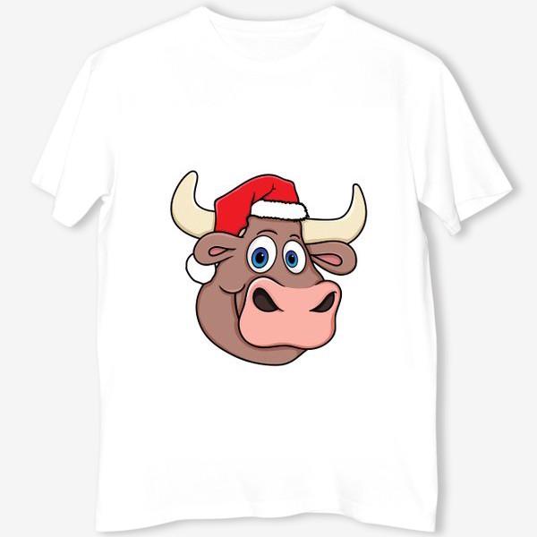 Футболка «бык символ нового года 2021»