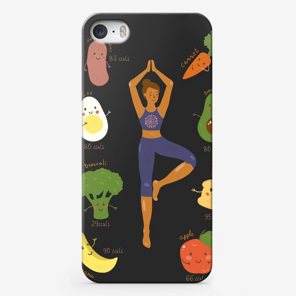 Чехол iPhone «Yoga food»