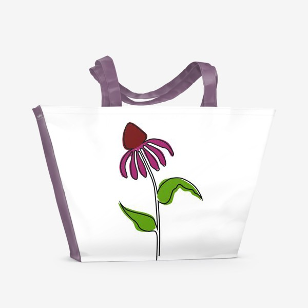 Пляжная сумка «Эхинацея»