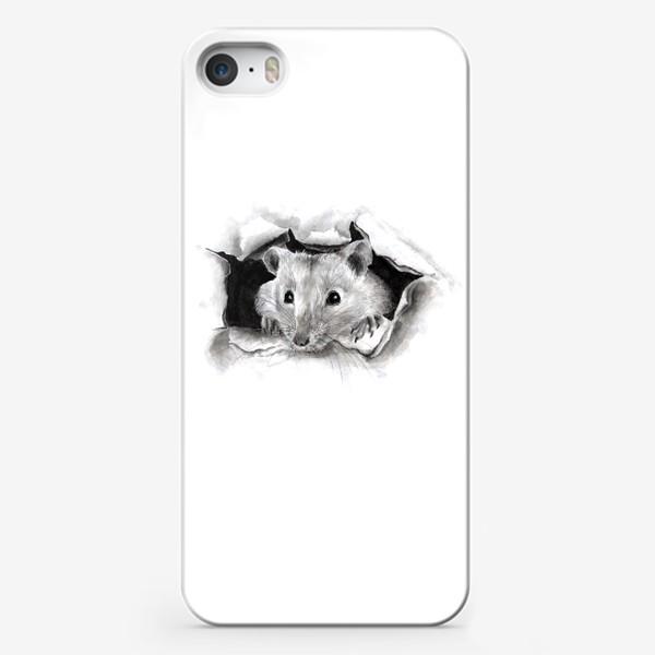 Чехол iPhone «грызун крысенок выглядывает»