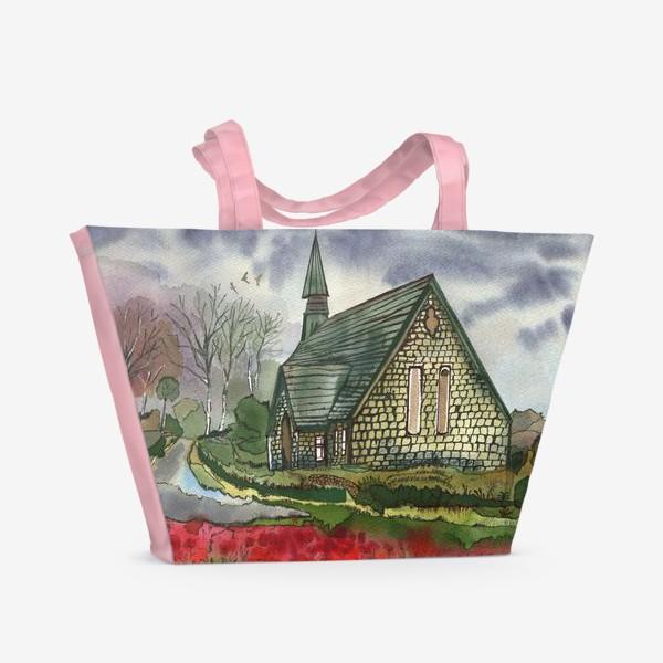 Пляжная сумка «Дом у дороги»