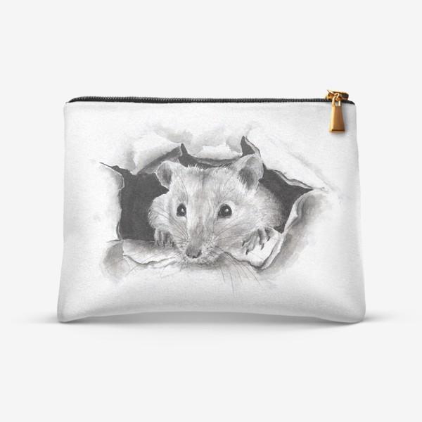Косметичка «грызун крысенок выглядывает»
