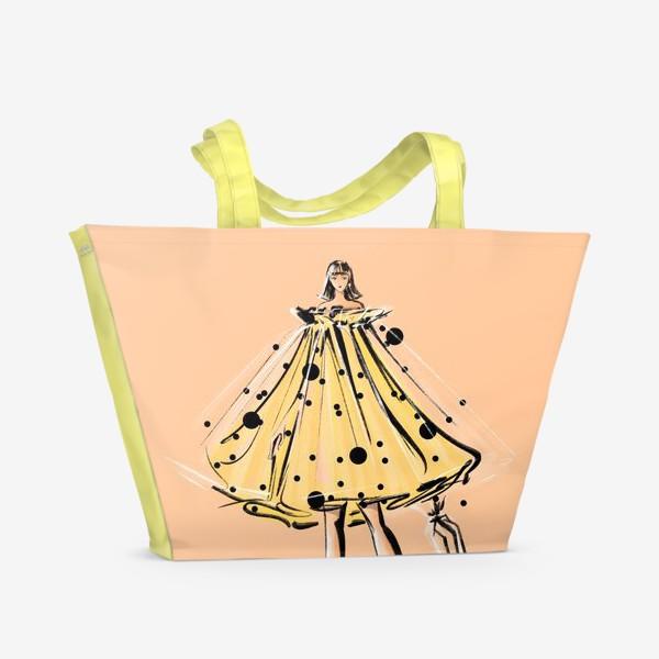 Пляжная сумка «Девушка с зонтиком»