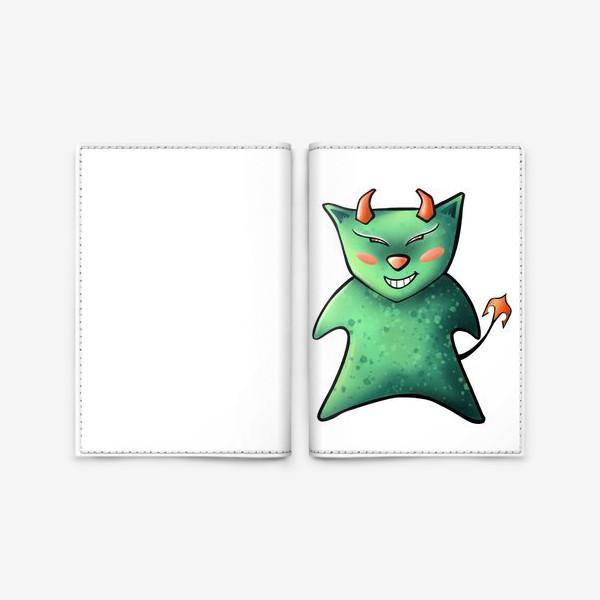 Обложка для паспорта «Кот Чертёнок »