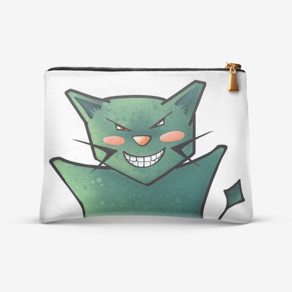 Косметичка «Очень довольный кот»