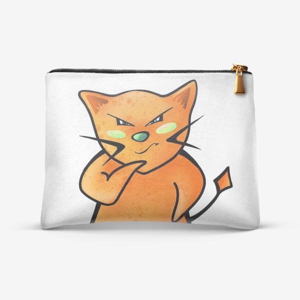 Косметичка «Рыжий кот строит планы по захвату мира»