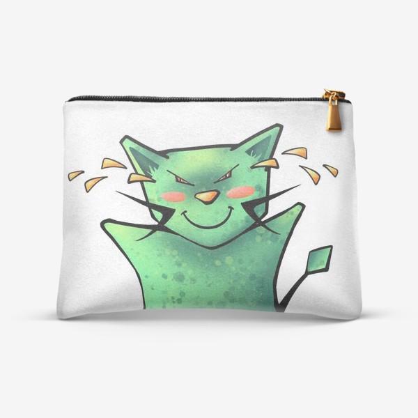 Косметичка «Счастливый до слез кот»