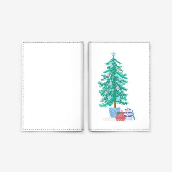Обложка для паспорта «Новогодняя елка»
