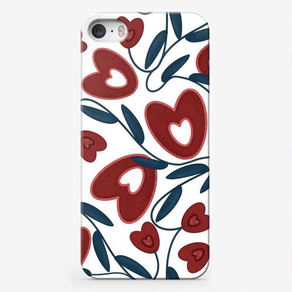 Чехол iPhone «Растения с сердцами»