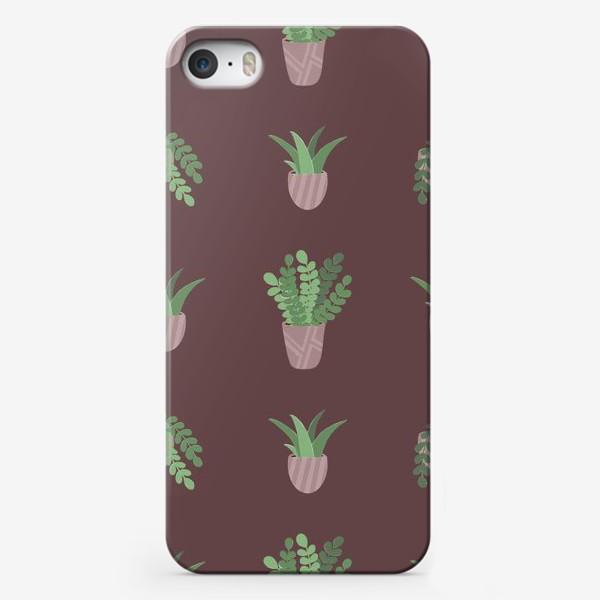 Чехол iPhone «Цветы в горшке»