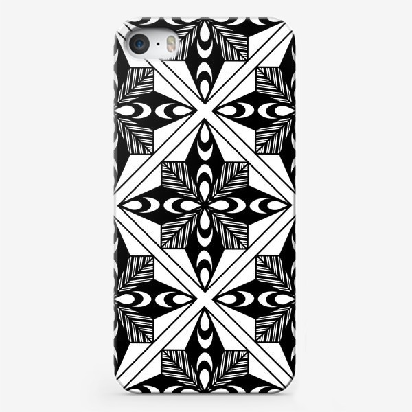 Чехол iPhone «Черно-белый паттерн»