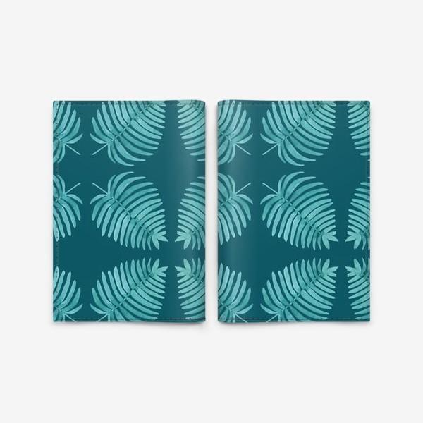 Обложка для паспорта «Листья пальмы»