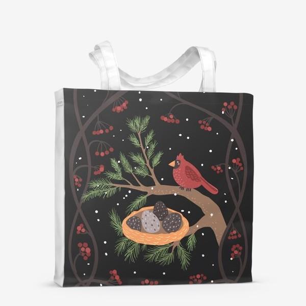 Сумка-шоппер «Гнездо кардинала»