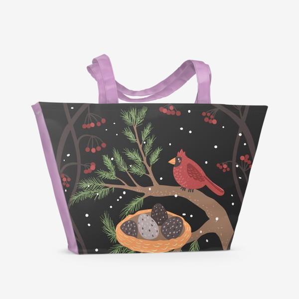 Пляжная сумка «Гнездо кардинала»