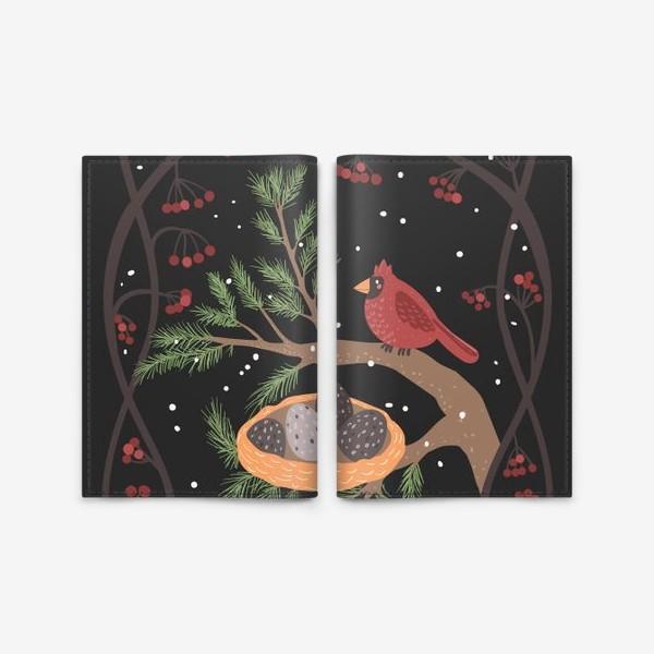 Обложка для паспорта «Гнездо кардинала»