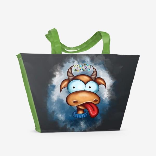 Пляжная сумка «Веселый Бык 2021»