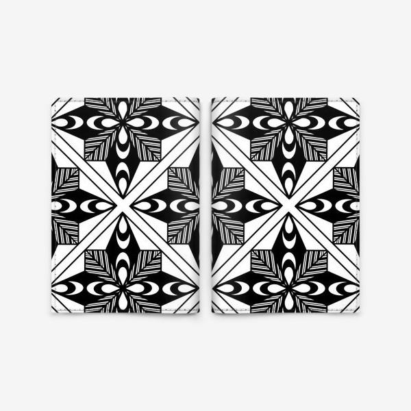 Обложка для паспорта «Черно-белый паттерн»