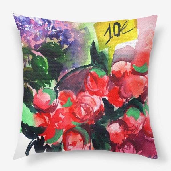 Подушка «Цветочный базар»