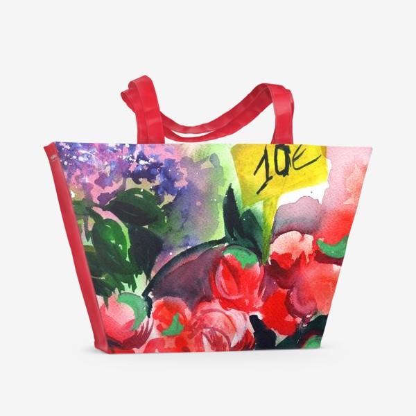 Пляжная сумка «Цветочный базар»