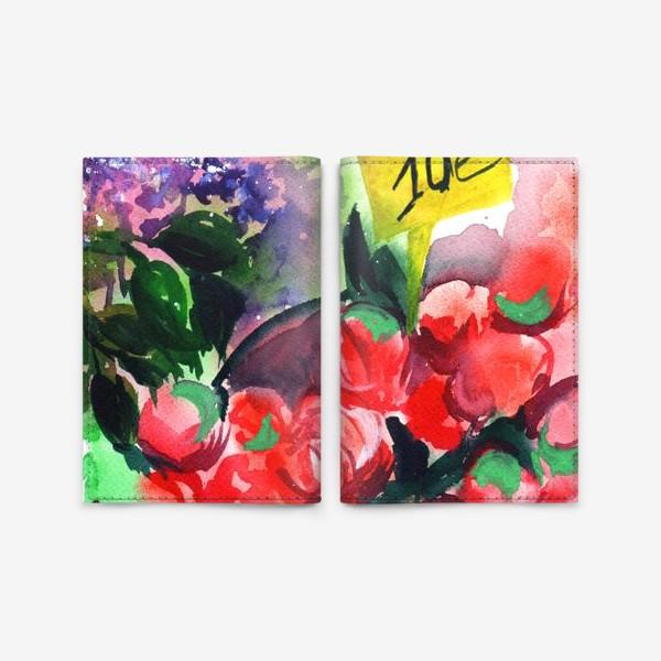 Обложка для паспорта «Цветочный базар»