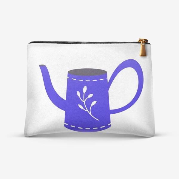 Косметичка «Симпатичная синяя лейка. Садоводство, сад, лето»
