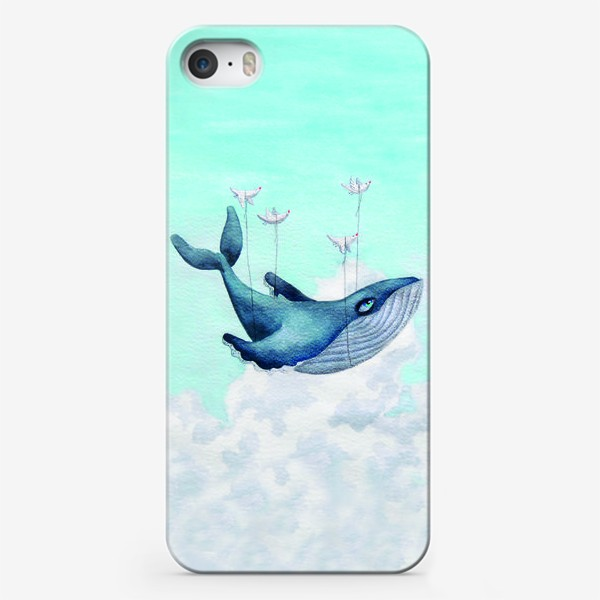 Чехол iPhone «Кит, парящий в облаках»