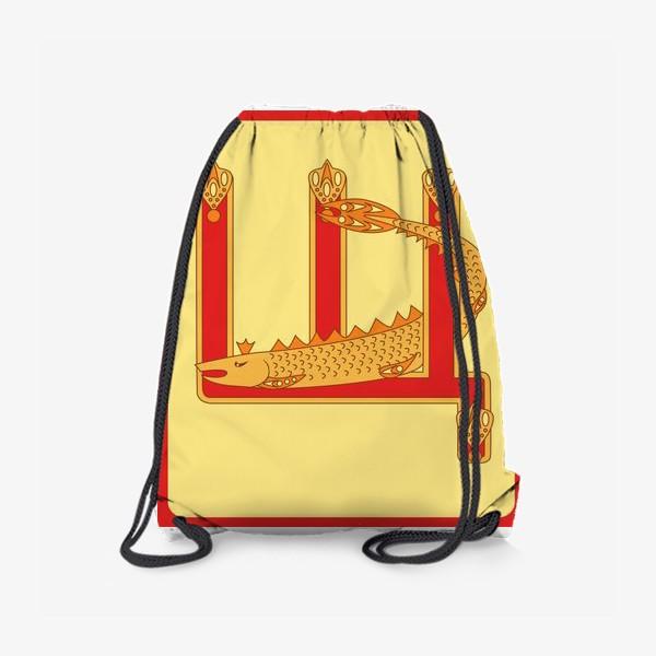 Рюкзак «Буква Щ в старорусском стиле»