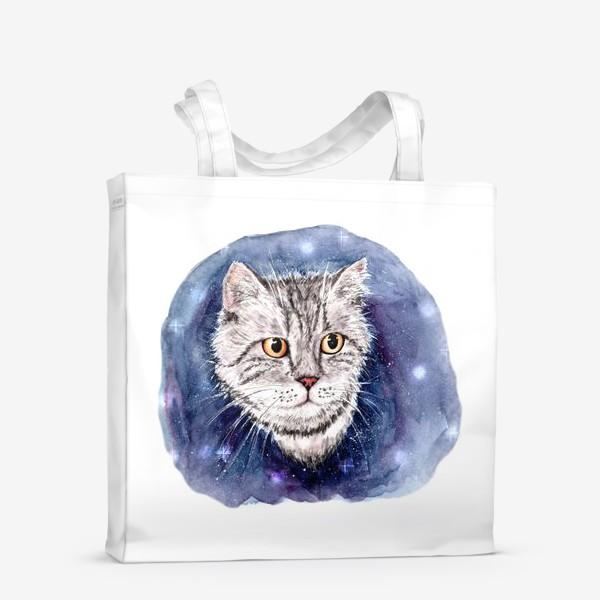 Сумка-шоппер «Котик в космосе»