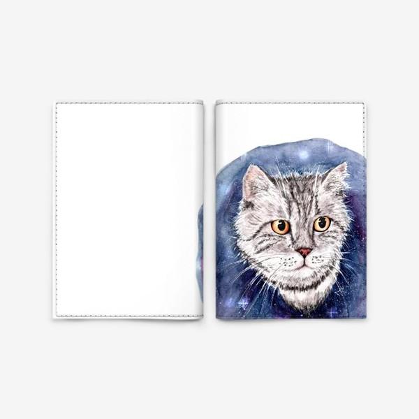 Обложка для паспорта «Котик в космосе»