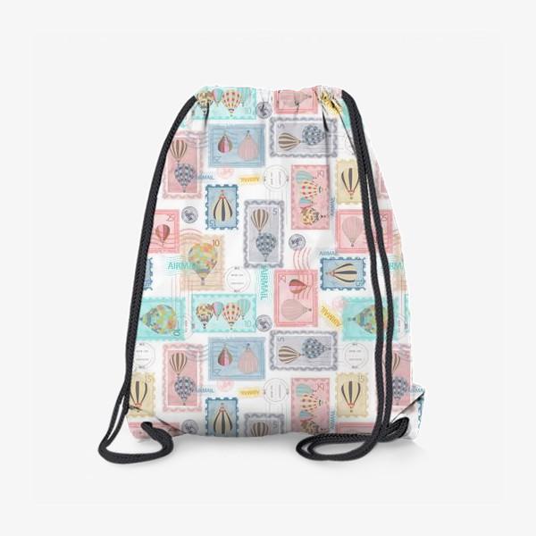 Рюкзак «Почтовые марки, паттерн»