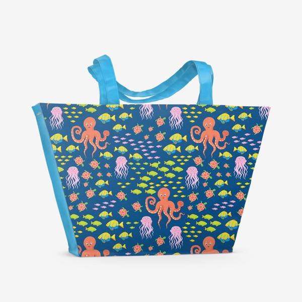 Пляжная сумка «Морская жизнь»