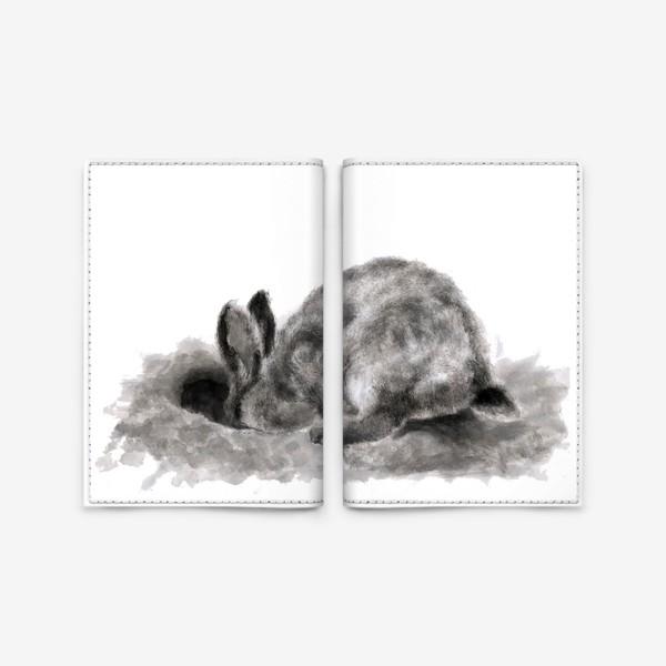 Обложка для паспорта «кролик роет нору»