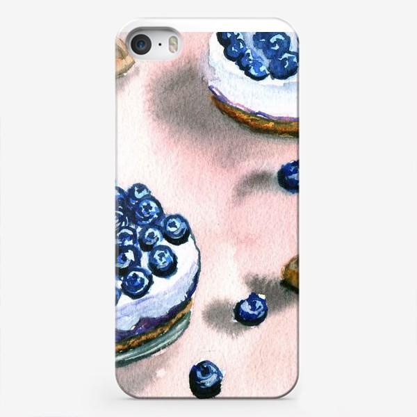 Чехол iPhone «Черничное пирожное»