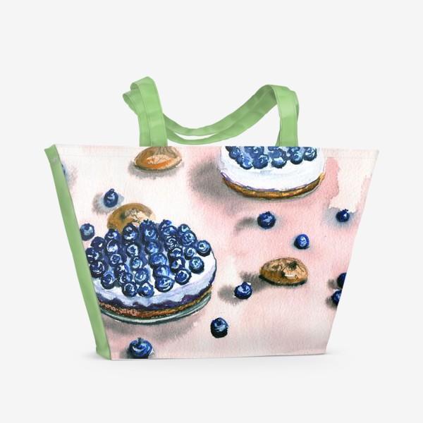 Пляжная сумка «Черничное пирожное»