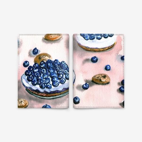 Обложка для паспорта «Черничное пирожное»