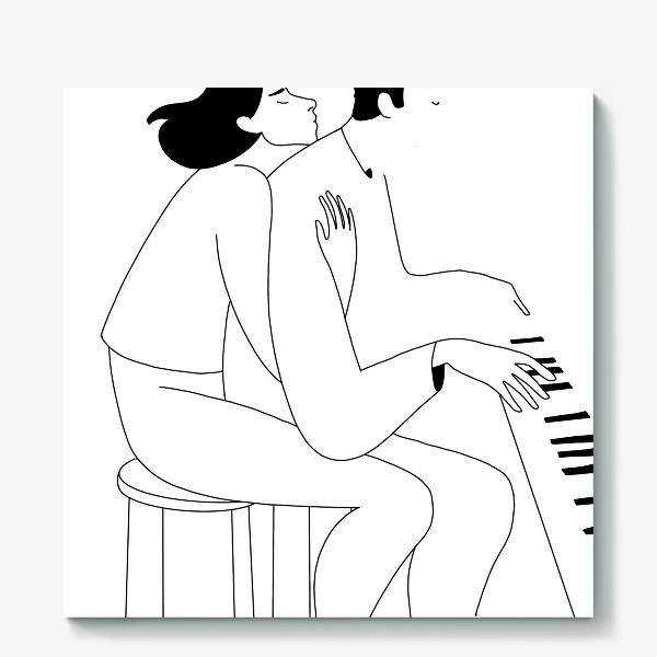 Холст «Love and piano»