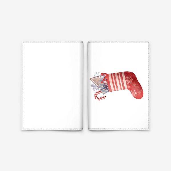Обложка для паспорта «подарки в красном носке»