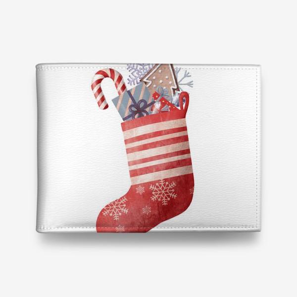 Кошелек «подарки в красном носке»