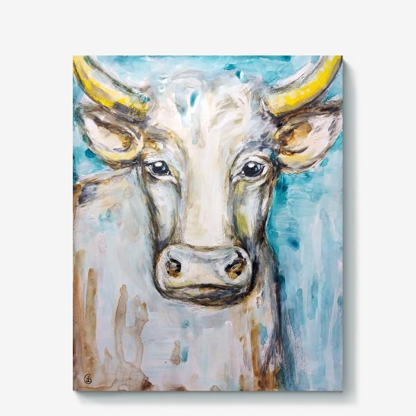 Холст «Белый бык»