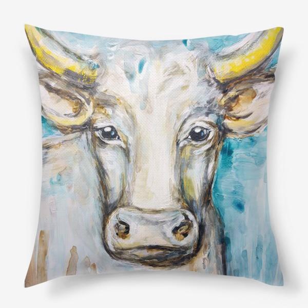 Подушка «Белый бык»