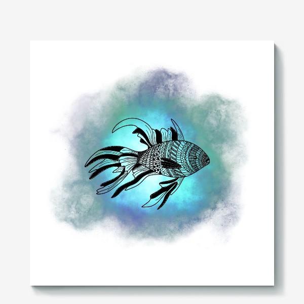 Холст «Рыба с узорами»